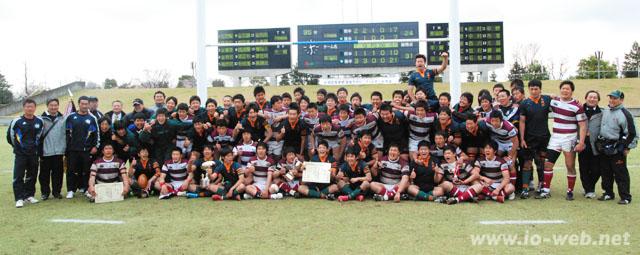ラグビー大阪朝高と東福岡の両チーム