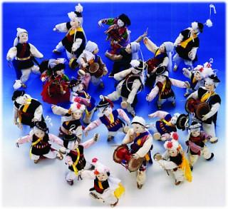 (リ・オンレ)ポジャギ作品と創作人形展