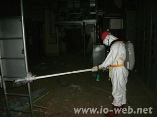 福島第1原発1号機の原子炉建屋の内部